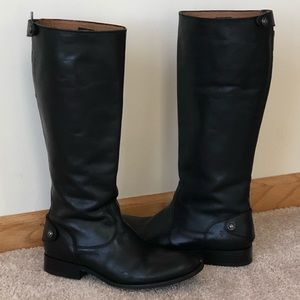 FRYE Melissa Button-Back Leather Boot
